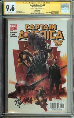 Captain America #6 Ss Cgc 9.6 1St App Winter Soldier Auto Steve Epting Variant