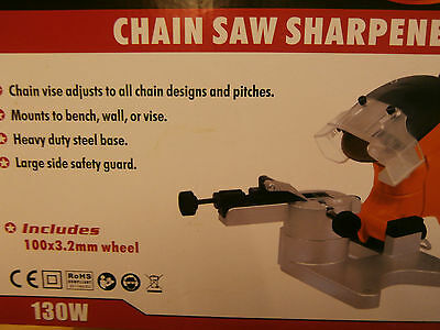 Electric Chainsaw Bench Mounted Sharpener Grinder 100mm sharpens any chain size