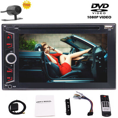 "6.2"" 2Din Touch Screen Car MP5 Player Bluetooth Stereo FM Radio USB/TF AUX +Cam"