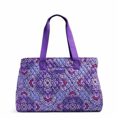Vera Bradley Womens Triple Compartment Travel Bag Lilac Tapestry