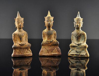 3 crowned Buddha, late Ayutthaya-period, Thailand / Siam, Asian art