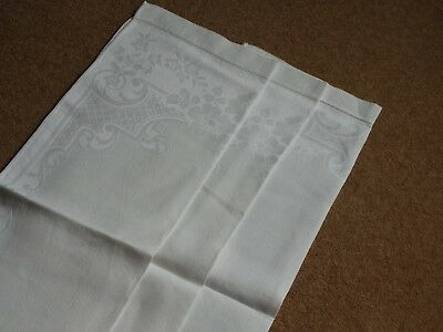 A MATCHING PAIR OF CLASSIC FLORAL HUCKABACK  DAMASK HAND TOWELS + 1 OTHER   (a)