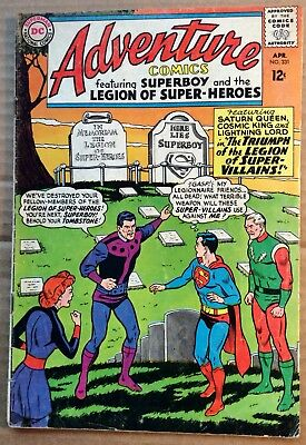 ADVENTURE COMICS #331 (1965) DC Silver Age Superboy & Legion of Super-Heroes VG