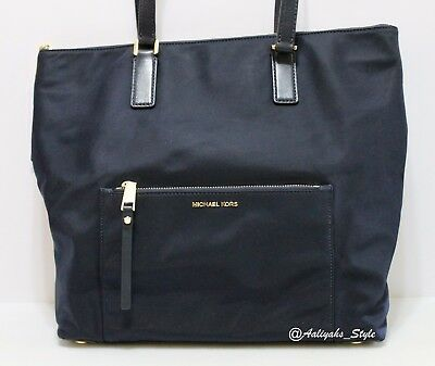 56ed4a684199 MICHAEL Michael Kors Ariana North/south Large Nylon Navy Tote Bag 38T7GA3T3C