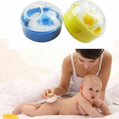 Baby With Powder  Puff Talcum Powder Box Sponge Container Case Box