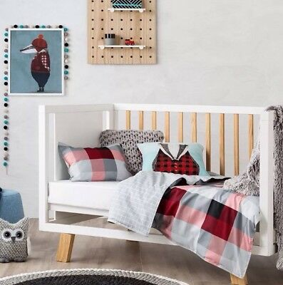 """Adairs Kids """"Mr North """" Reversible Cot Quilt Cover Set"""