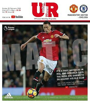 Manchester United v Chelsea - FA Premiership - 25 February 2018 - MINT