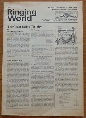 The Ringing World, For Church Bell Ringers, Nov. 1996 - Great Bells Of Trinity