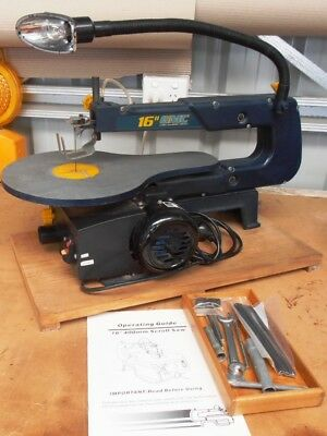 GMC Scroll Saw Table Saw Bench Saw 16 Inch 240v & Accessories Clean & Tidy