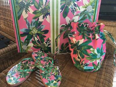 Vera Bradley Tropical Paradise Collection (Ditty Bag, Flip Flops + Tote) Nwt!!!