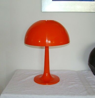 Vintage Retro Mid Century Orange Mushroom Atomic Plastic Table lamp 60s 70s