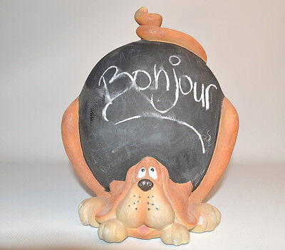 English Spaniel Cocker Dog  Ceramic figurine Writable Welcome Note About 10""