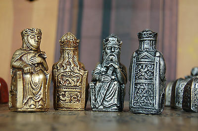 Gothic Lewis Chess Set. Customisable colours (pieces only)