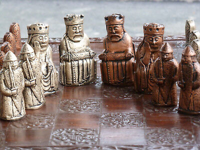 Isle of Lewis Chess Set, Beserker Rook, customisable colours (Pieces only)