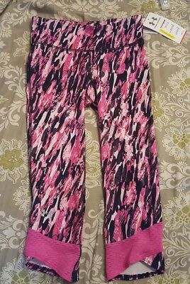 NEW WOMEN'S UNDER ARMOUR UA HEATGEAR AMOUR CAPRIS! COMPRESSION Pink XS NWT
