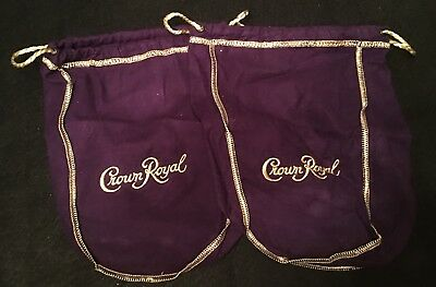 Mix Lot of 4 Crown Royal Bags Brown Cream Purple