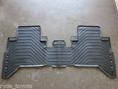 Hilux Dual Cab Rear Rubber Floor Mat 8/15 On ** Toyota Genuine Parts **