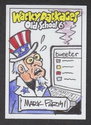 Wacky Packages Old School 6 Sketch Card – COMMIE by MARK PARISI