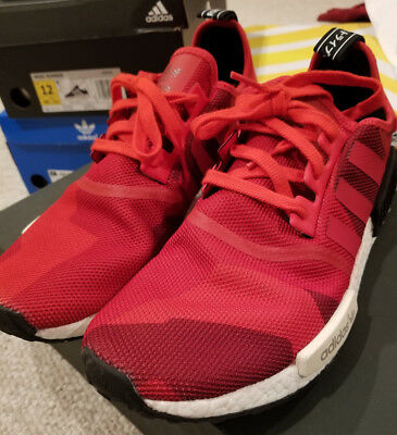 0cf1e3c6ba031c Adidas Nmd R1 Nomad Runner Red Geometric Camo S79164 Size 11.5 Vnds Worn  Once