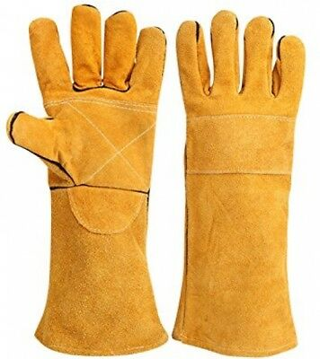 Stitching Welders Gauntlets Wood Burners Cotton Lined Welding Heat Leather