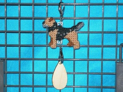 Border Terrier #3 dog crate tag or hang anywhere pet sign any day ornament art