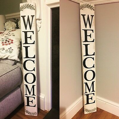 Wooden  Rustic  Farmhouse Welcome Porch Sign Scandinavian  Shabby Wedding
