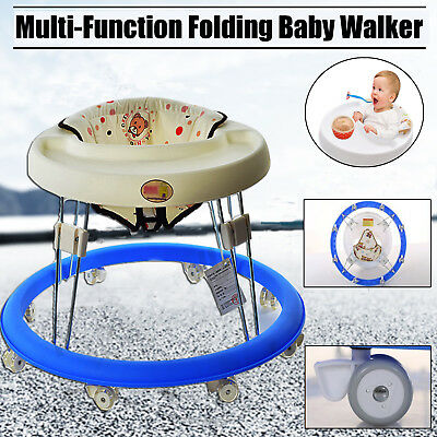 Fascol Baby Walker with Wheels Multi-function Child Anti-rollover One-touch Fold