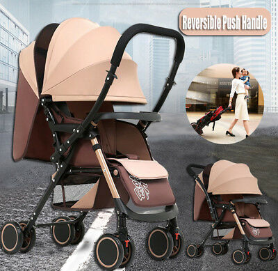 Fold Lightweight Compact Reverse Baby Stroller Prams Pushchair Travel Carry–on