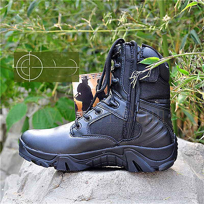 728c4a9de474 Mens Smart Casual Laced Zip Military Army Hiking Retro Vintage Combat Boots.