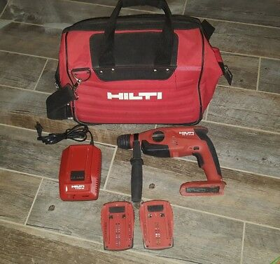 HIlti TE 2-A18 Rotary Hammer Drill W/ 2 Batteries and 1 Charger and Bag