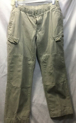 8adaab6a1 14H Boys Lands End Iron Knee Pull On Cargo Pants 14 Husky Desert Khaki