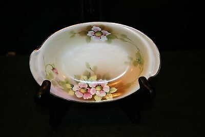 Hand Painted Nippon Plate, Noritake Celery Dish Oval Apple Blossoms, Beautiful