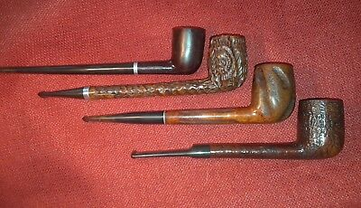 Four Vintage Tobacco Smoking Estate Pipes - Lumberman Style,Etc. (Others Listed)