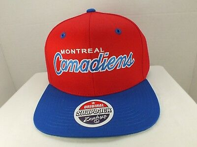 Montreal Canadiens HABS 90/'s  Vintage Hat Cap NHL ADULT New By LOGO 7