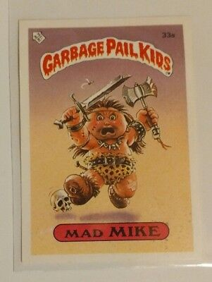 1985 Garbage Pail Kids Series 1 - (UK Minis) Trading Card Sticker #33a Mad Mike