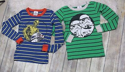 Hanna Andersson Star Wars Pajama Tops Size 10 140 Storm Trooper R2D2 C-3PO
