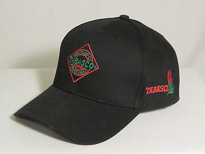 Tabasco Black Cap with Diamond and Peppers logo - NEW WITH TAGS