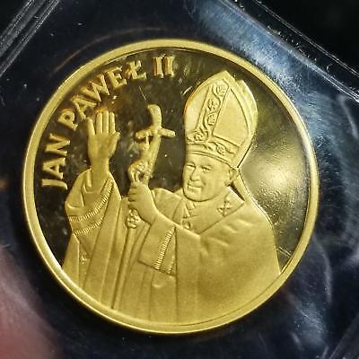 Poland 1982 CHI Gold PROOF .999 Fine Gold 1000 Zlotych POPE JOHN PAUL Visit RARE