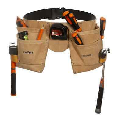 Toolpack Double-Pouch Tool Belt Heavy-Duty Tool Holder Superior Leather 366.004