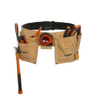 Toolpack Double-Pouch Tool Belt Heavy-Duty Tool Holder Hobby Leather 366.020