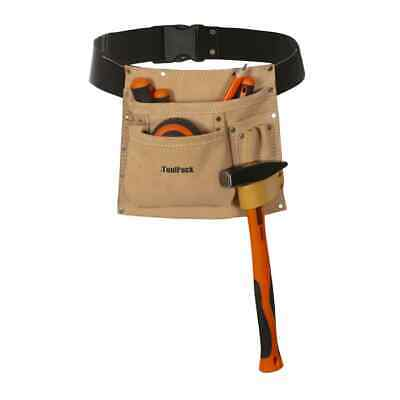 Toolpack Single-Pouch Tool Belt Heavy-Duty Tool Holder Superior Leather 366.006