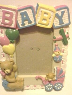 Baby picture frame ceramic colorful baby shower gift nursery memories
