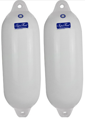 2x Small Boat Fender 415 mm Inflatable Buffer Marine Vinyl Non Marking NEW