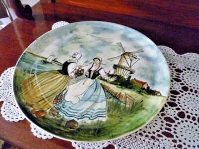 STUNNING HAND PAINTED   36cm WALL CHARGER  SIGNED Martin Boyd DUTCH SCENE