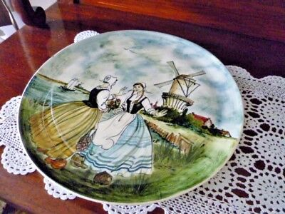 WALL CHARGER 36 CM SIGNED Martin Boyd  RARE  DUTCH SCENE STUNNING HAND PAINTED