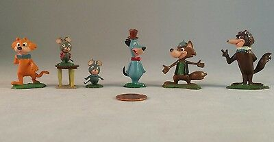 Marx Tinykins Huckleberry Hound Lot of Hanna-Barbera Figures Hand Painted - 1961
