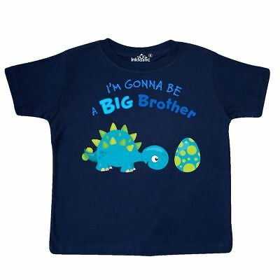 Inktastic Happy Dinosaur Future Big Brother Toddler T-Shirt Going To Be Siblings