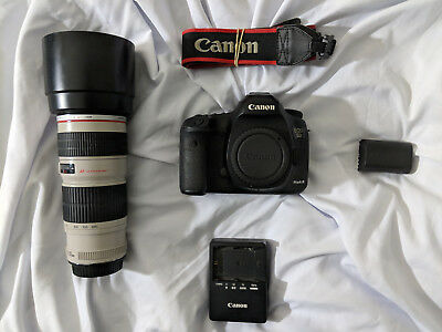 Canon 5D Mark III DSLR Camera with 70-200mm f4 lens