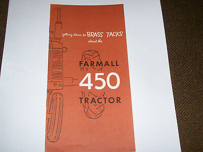 International Farmall 450 Tractor Advertising Booklet Pamphlet For IH Dealers