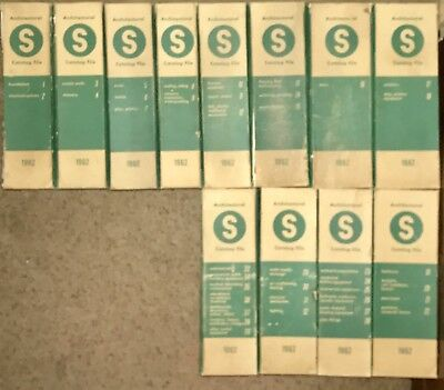 12 Volume Set of Sweet's Architectural Catalog File dated 1962 Free Shipping
